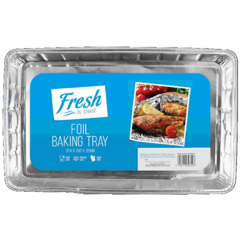 Pack 3 Large Shallow Foil Oven Baking Trays 32cm